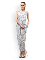 Ladybug Women Light Blue Floral Print Jumpsuit