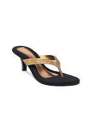 Lamere Women Gold-Toned Embellished Heels