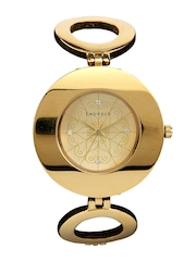 Laurels Women Gold Toned Dial Watch 101