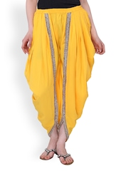 Lavennder Women Yellow Dhoti