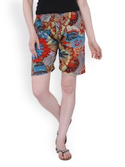 Lavennder Women Multi-Coloured Printed Shorts