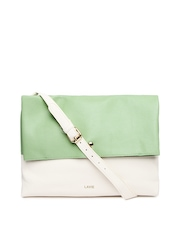 Lavie Green & Off-White Azalia Sling Bag