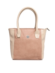 Lavie Peach Coloured & Beige Handbag