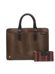 Leather Talks Men Brown Bag