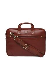 Leather Talks Unisex Brown Laptop Bag