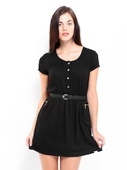 Lee Cooper Black Fit & Flare Dress