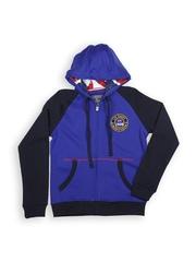 Boys Blue & Navy Hooded Sweatshirt Lee Cooper