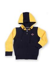 Boys Navy & Yellow Hooded Sweatshirt Lee Cooper