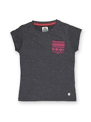 Lee Cooper Girls Charcoal Grey T-shirt