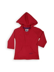 Lee Cooper Girls Red Hooded T-shirt