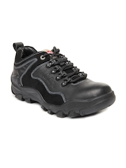 Lee Cooper Men Black Casual Leather Shoes