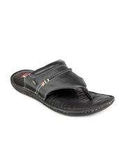 Lee Cooper Men Black Leather Sandals