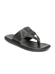 Lee Cooper Men Black Leather Sandals