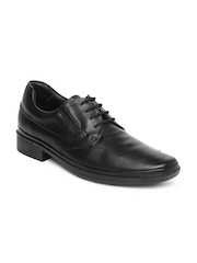 Lee Cooper Men Black Leather Semi-Formal Shoes