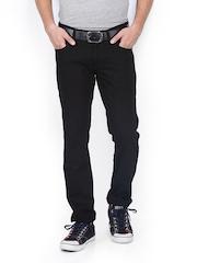 Lee Cooper Men Black Tapered Fit Jeans