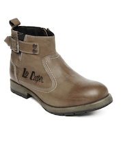 Lee Cooper Men Brown Leather Boots