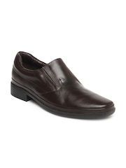 Lee Cooper Men Brown Leather Formal Shoes