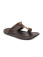 Lee Cooper Men Brown Leather Sandals