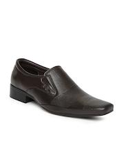 Lee Cooper Men Brown Leather Semi-Formal Shoes