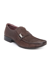 Lee Cooper Men Brown Leather Semi-Formal Shoes
