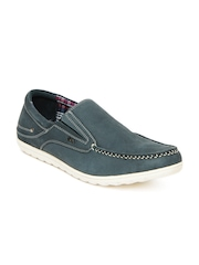 Lee Cooper Men Grey Leather Casual Shoes