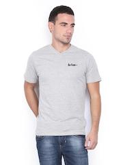 Lee Cooper Men Grey Melange T-shirt
