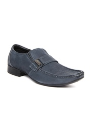 Lee Cooper Men Navy Leather Semi-Formal Shoes