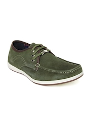 Lee Cooper Men Olive Green Casual Leather Shoes