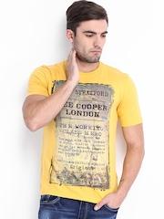 Lee Cooper Men Yellow Printed T-shirt