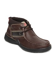 Lee Cooper Men Brown Leather Casual Shoes