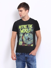Lee Men Black Inspire Printed T-shirt