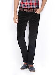 Lee Men Black Powell Slim Fit Corduroy Trousers