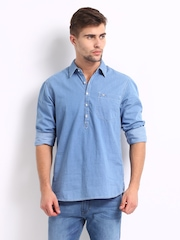 Lee Men Blue Eddie Denim Slim Fit Casual Shirt