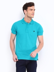 Lee Men Blue Polo T-shirt