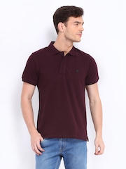 Lee Men Burgundy Polo T-shirt