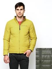 Lee Men Olive Green Reversible Jacket