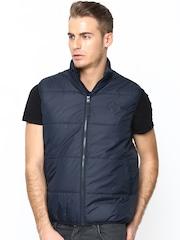 Lee Men Navy Sleeveless Jacket