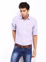 Lee Men Lavender Slim Fit Casual Shirt