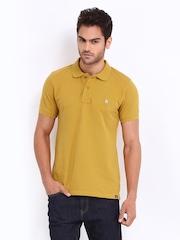 Lee Men Mustard Yellow Polo T-shirt