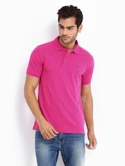 Lee Men Pink Polo T-shirt