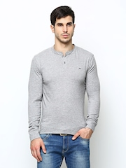 Lee Men Grey Henley T-shirt