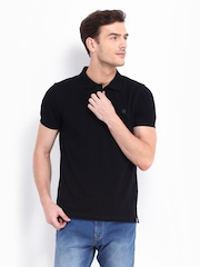 Lee Men Black Polo T-shirt