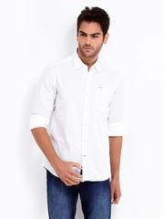 Lee Men White Slim Fit Casual Shirt