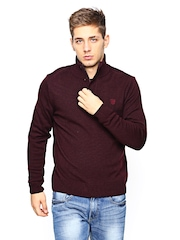 Lee Men Wine-Coloured Sweater