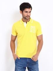 Lee Men Yellow Polo T-shirt