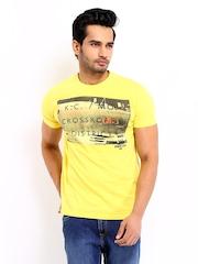 Lee Men Yellow Printed T-shirt