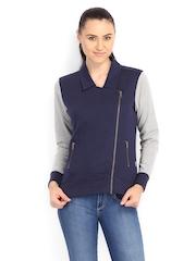 Lee Women Blue & Grey Sweatshirt