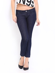 Lee Women Dark Blue Maxi Skinny Fit Ankle Length Jeans