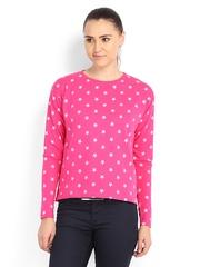 Lee Women Pink Zena Star Printed Sweatshirt