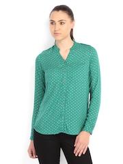 Lee Women Green Printed Shirt
